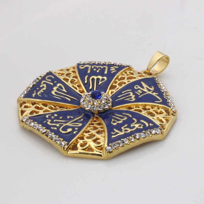 Allah Muhammad Crystal Pendant Necklace