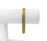 22k Yellow Gold 19.3g Solid Diamond Cut Curb Link Chain Bracelet 7""