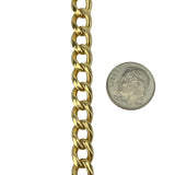 14k Yellow Gold 38.4g Men's Solid Heavy 7.5mm Curb Link Chain Bracelet 9""