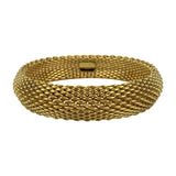 Tiffany & Co. 18k Yellow Gold 92.7g Somerset Flexible Mesh Bracelet 8""