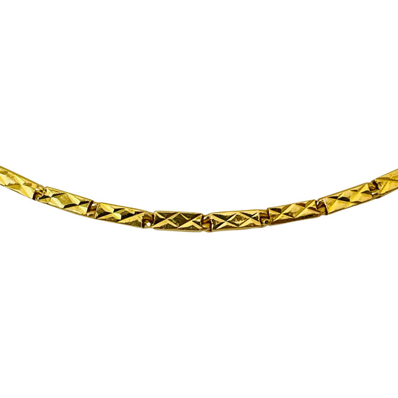18k Italian Yellow Gold 23.8g Twisted Snake Link Flex Bracelet 6.75