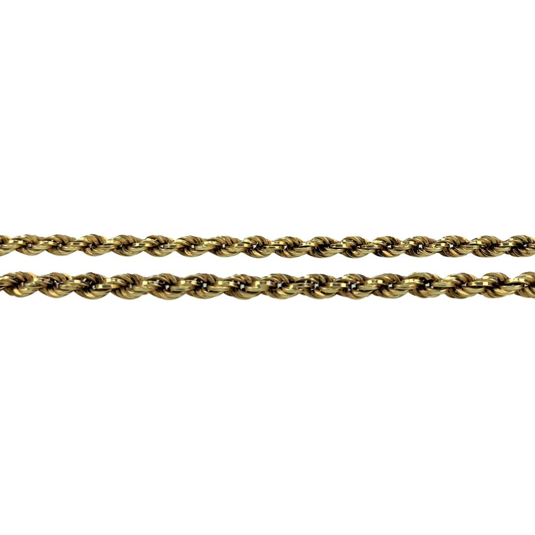 14k Yellow Gold 12.9g Hollow UnoAErre 4mm Rope Chain Necklace Italy 20""