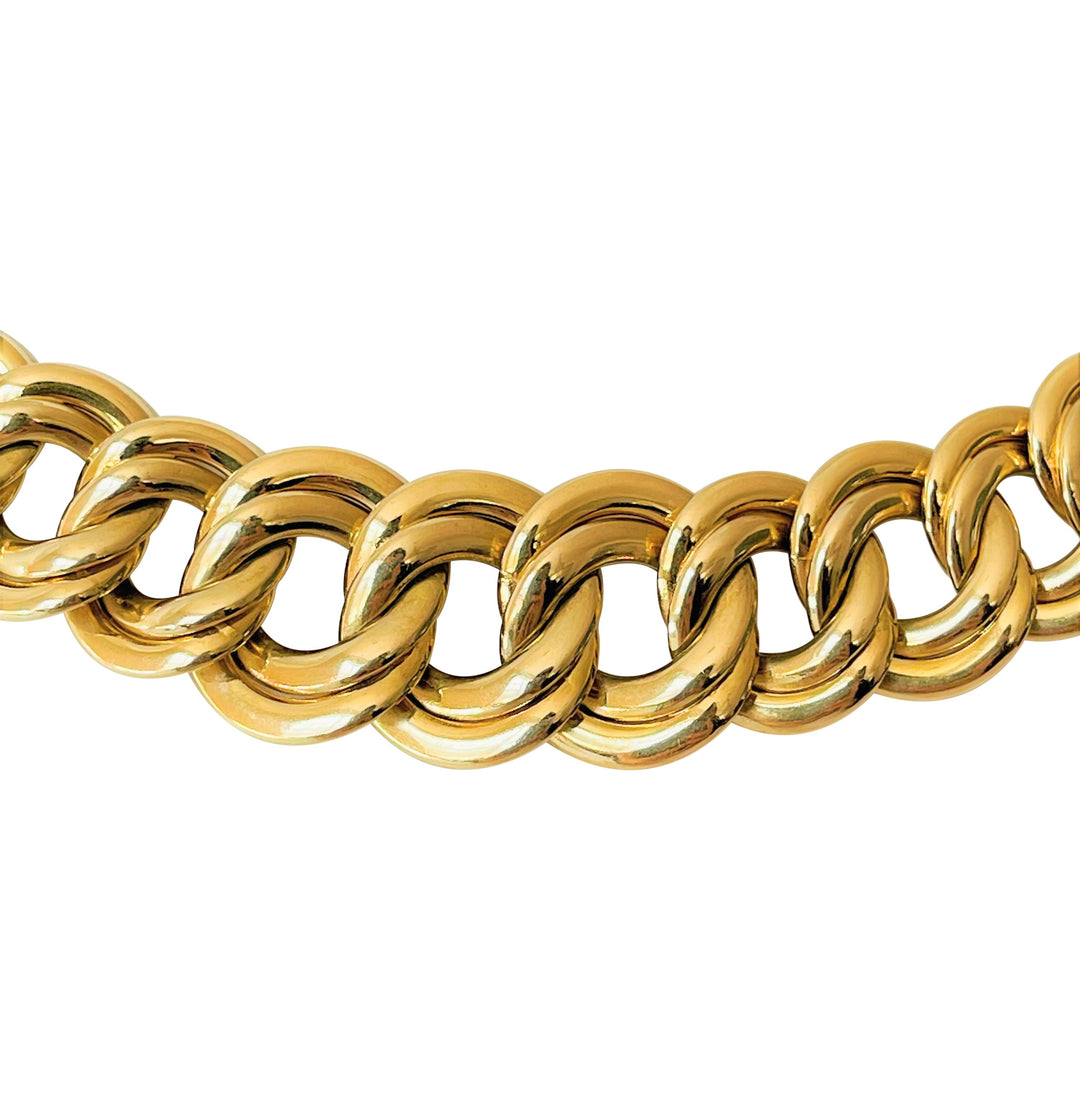 18k Italian Yellow Gold 23.8g Twisted Snake Link Flex Bracelet 6.75""