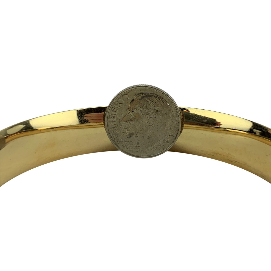 14k Yellow Gold 29.4g Ladies Polished 12mm Bangle Bracelet 7""