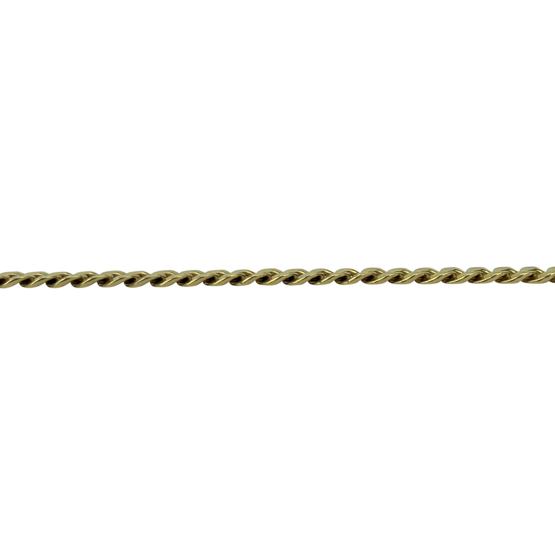 14k Yellow Gold 8.6g Solid 4.5mm Curb Link Chain Bracelet Italy 8.5""