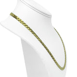 14k Italian Yellow Gold 30.9g Solid Heavy 6mm Curb Link Chain Necklace 20""