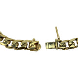 14k Yellow Gold 35.6g Solid Heavy Squared Curb Link Chain Bracelet 8""