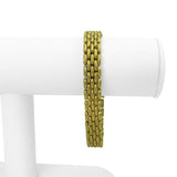 Marchisio 18k Yellow Gold 33.2g Textured Panther Link Bracelet Italy 7.75""