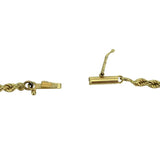 14k Yellow Gold Solid 2.5mm Rope Chain Bracelet 6.75""