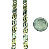 14k Yellow White Gold Two Tone 35.3g Solid Heavy Fancy Link Chain Necklace 20""