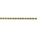 14k Yellow Gold 5.5g Solid Diamond Cut 3mm Rope Chain Bracelet 7""