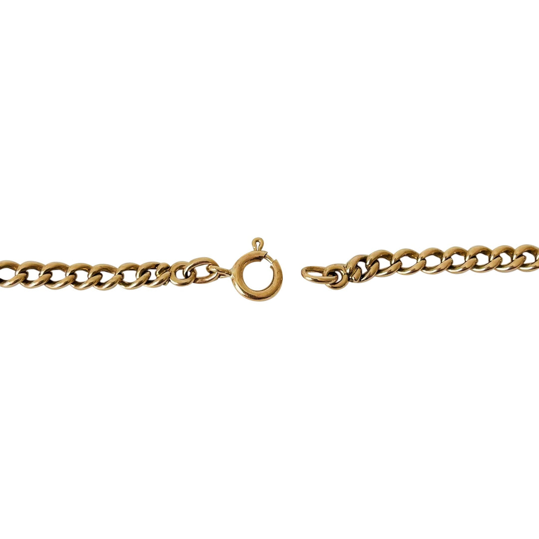 14k Yellow Gold 9.3g Light Double Circle Link Charm Bracelet 6.75""