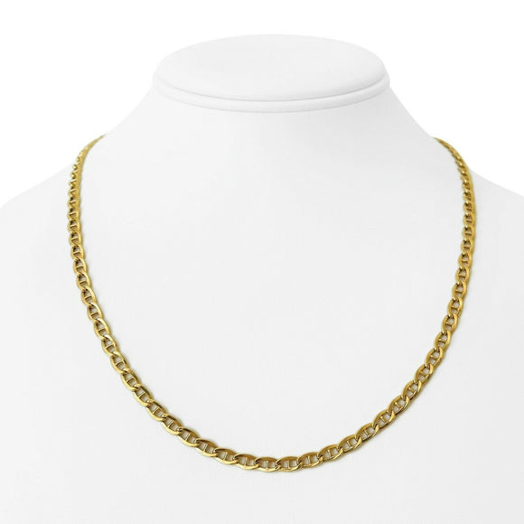 18k Yellow Gold 8.9g Light Hollow 4.2mm Mariner Gucci Link Chain Necklace 20