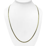 14k Yellow Gold 3mm Flat Mariner Gucci Link Chain Necklace 24""