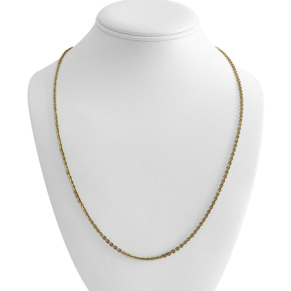 18k Yellow Gold 7.2g Thin UnoAErre Cable Link Chain Necklace Italy 23