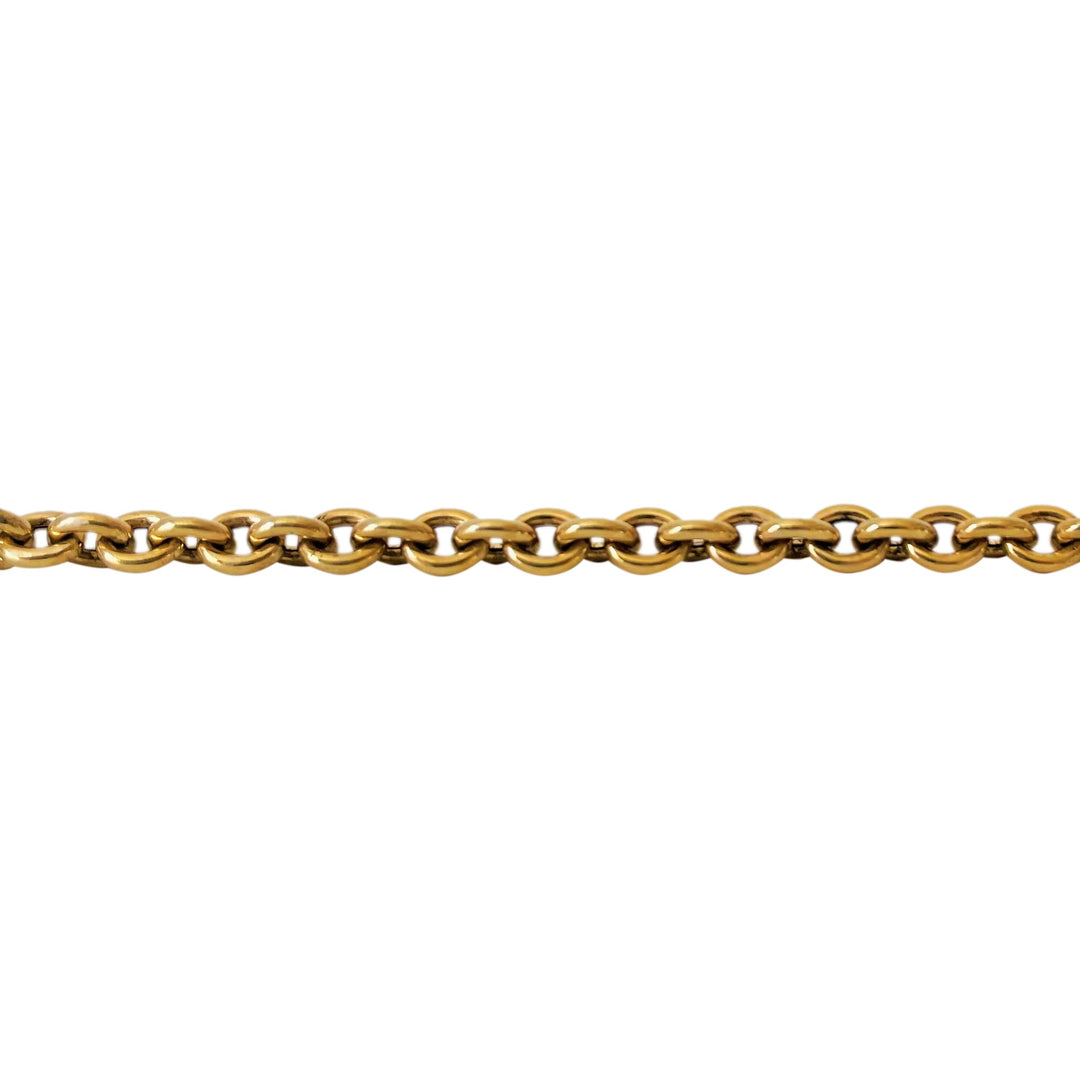 14k Yellow Gold 24.6g Ladies Toggle Bar Cable Link Chain Necklace 18""