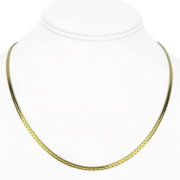 14k Yellow Gold 7g UnoAErre 2mm Cobra C Link Chain Necklace Italy 18