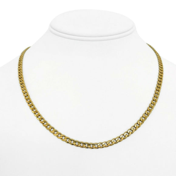 14k Yellow Gold 18g Solid Ladies 4.2mm Curb Link Chain Necklace 18