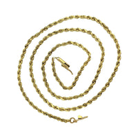 14k Yellow Gold Marquise Link AK Atasay Kuyumculuk Chain Necklace 18 Inches