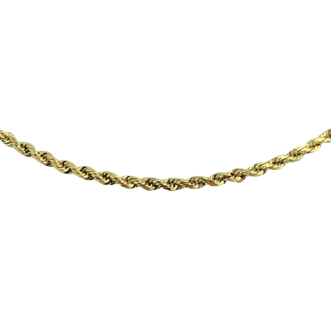 14k Yellow Gold 9.4g Solid 2mm Rope Chain Necklace 19""