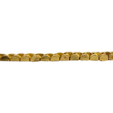 22k Yellow Gold 32.4g Solid Vintage Diamond Cut Panther Link Chain Bracelet 8""