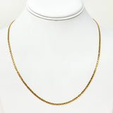 14k Yellow Gold 2mm Bismark Link Chain Necklace 20 Inches