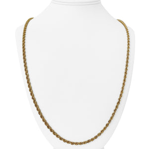 14k Yellow Gold 35.4g Solid Heavy 3.5mm Rope Chain Necklace 30""