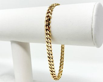 14k Solid Yellow Gold 18.8g Cuban Curb Link 6mm Bracelet 8 Inches