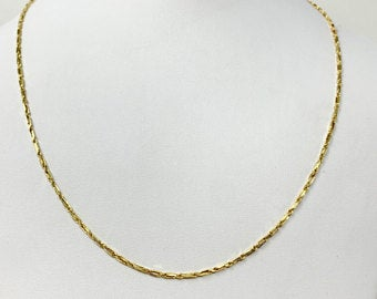 14k Yellow Gold Fancy Open Modified Rope Chain Necklace 20