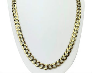 10k Yellow Gold 51.3g Solid Heavy 10mm Curb Link Chain Necklace 26""