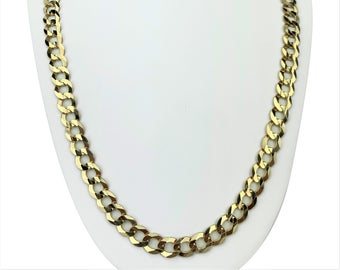10k Yellow Gold 51.3g Solid Heavy 10mm Curb Link Chain Necklace 26