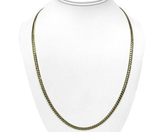 ** RESERVED** 14k Italian Yellow Gold 13.4g Solid 3.5mm Curb Link Chain Necklace 24