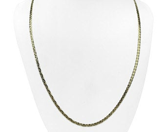 14k Yellow Gold 3mm Flat Mariner Gucci Link Chain Necklace 24
