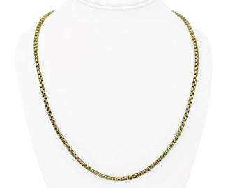 14k Yellow Gold 13.3g Open Box Link Chain Necklace 23