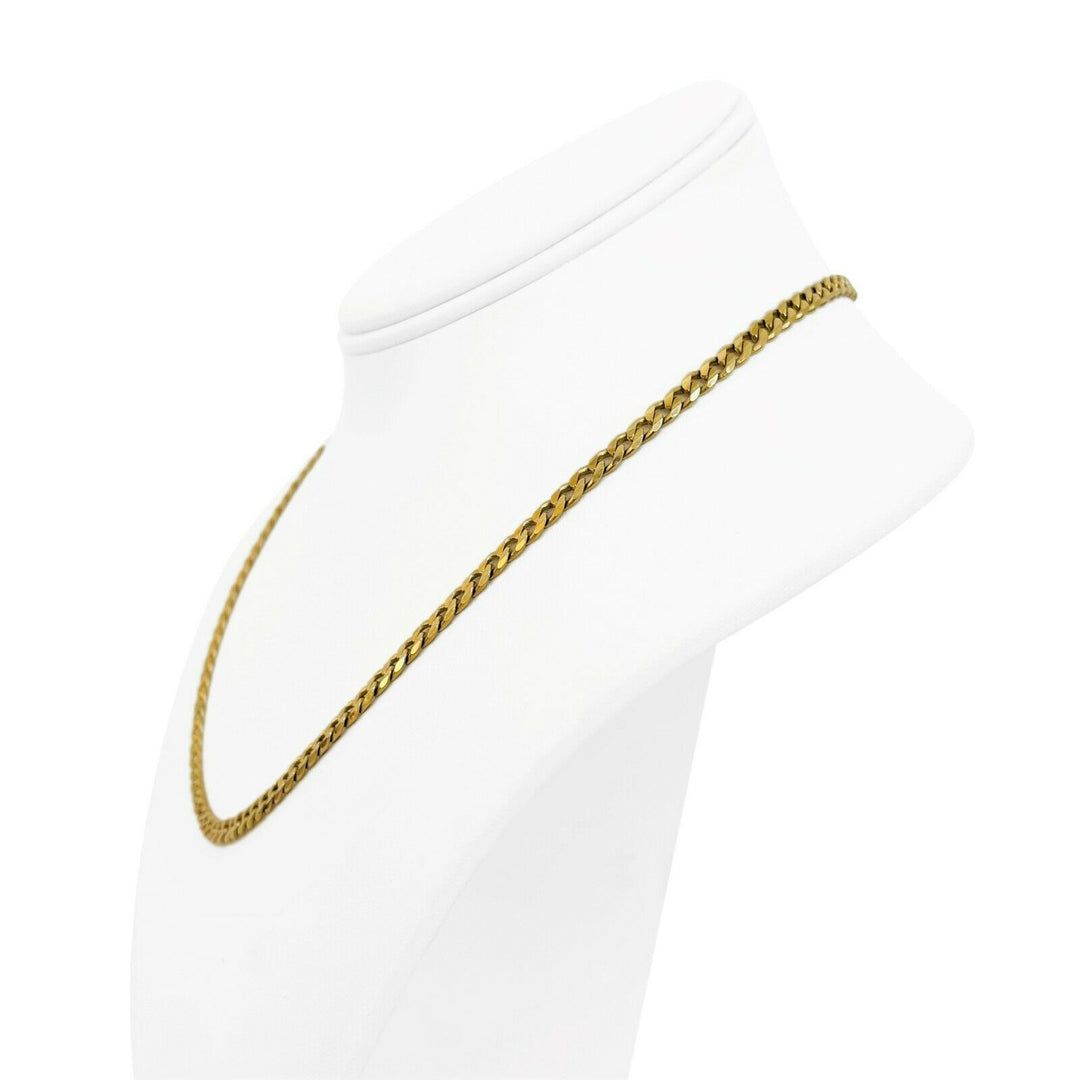 14k Yellow Gold 18g Solid Ladies 4.2mm Curb Link Chain Necklace 18""