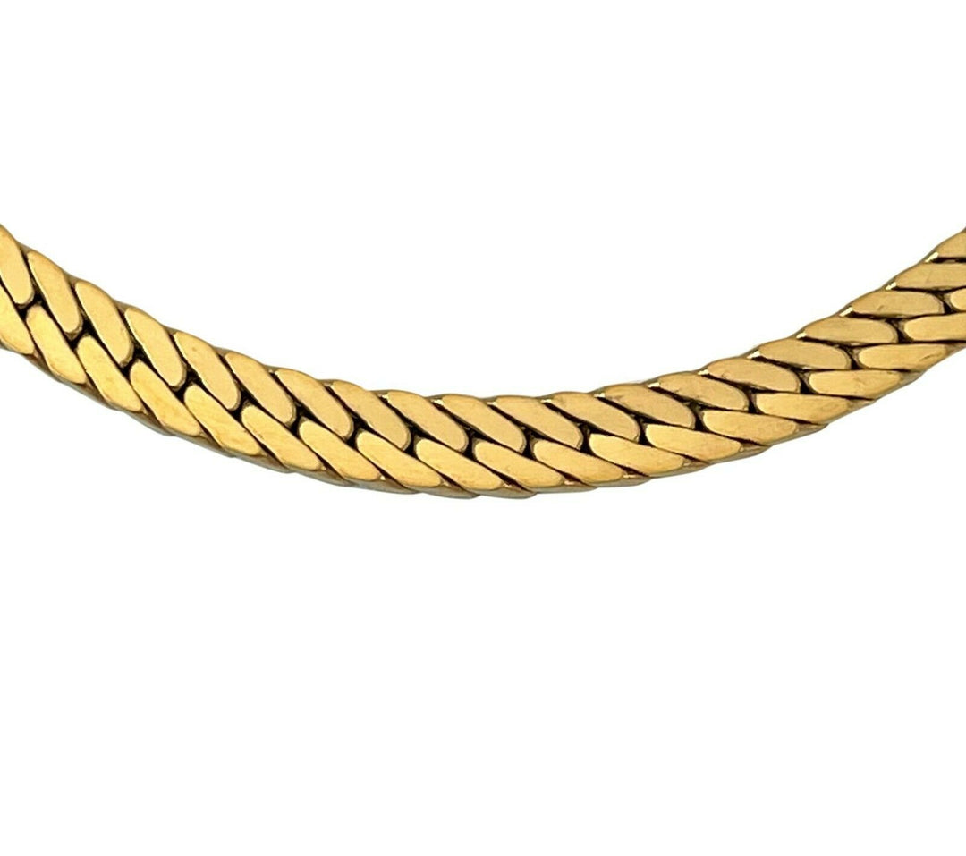 14k Yellow Gold 33g Thick 5mm Herringbone Link Chain Necklace UnoAErre Italy 18""