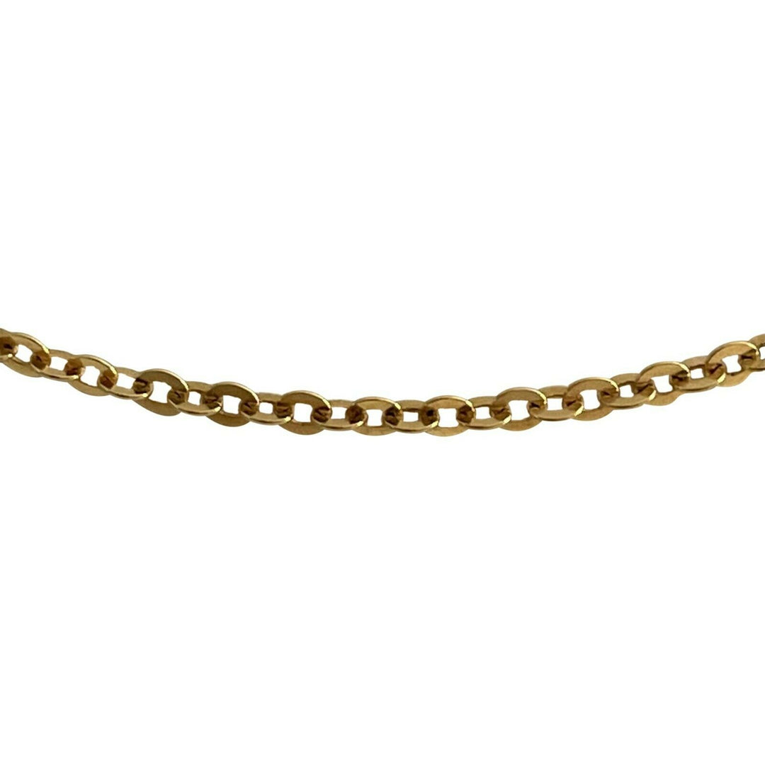 18k Yellow Gold 7.2g Thin UnoAErre Cable Link Chain Necklace Italy 23""
