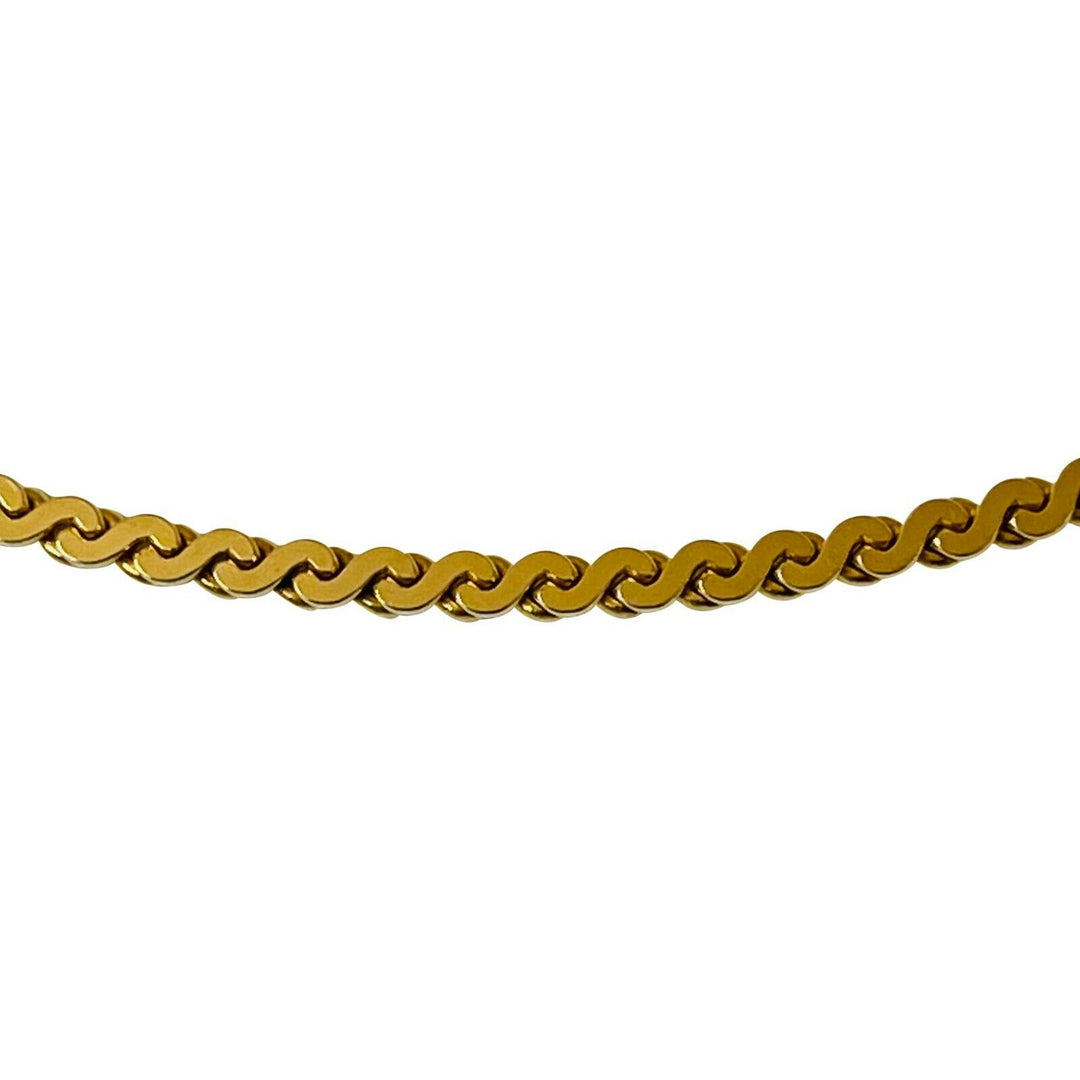 14k Yellow Gold 11.8g Solid Serpentine S Link Link Chain Necklace Italy 17.5""
