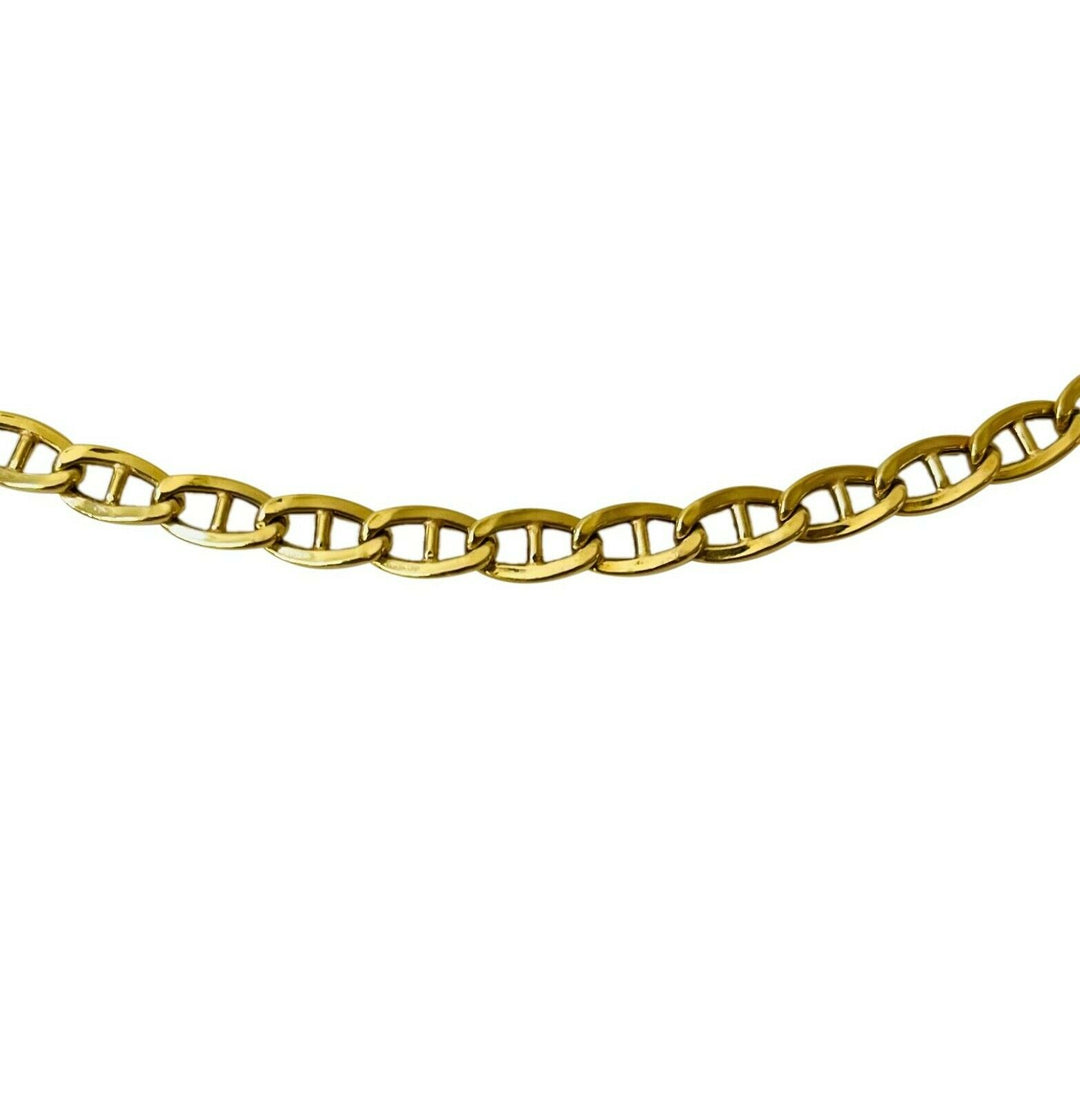 18k Yellow Gold 8.9g Light Hollow 4.2mm Mariner Gucci Link Chain Necklace 20""