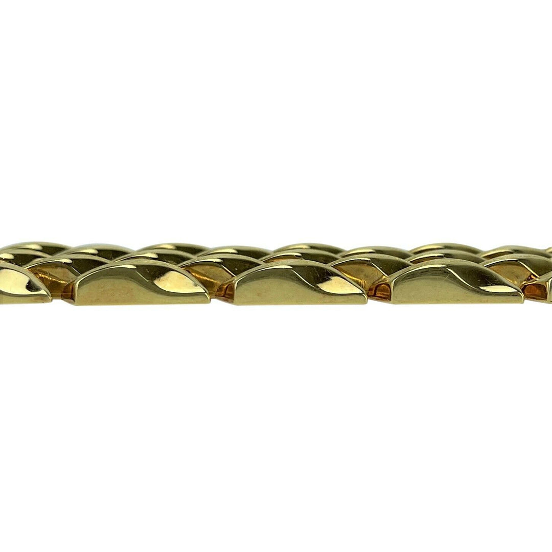 14k Yellow Gold 50.4g Ladies Heavy Wide 25mm Fancy Link Bracelet 7.5""