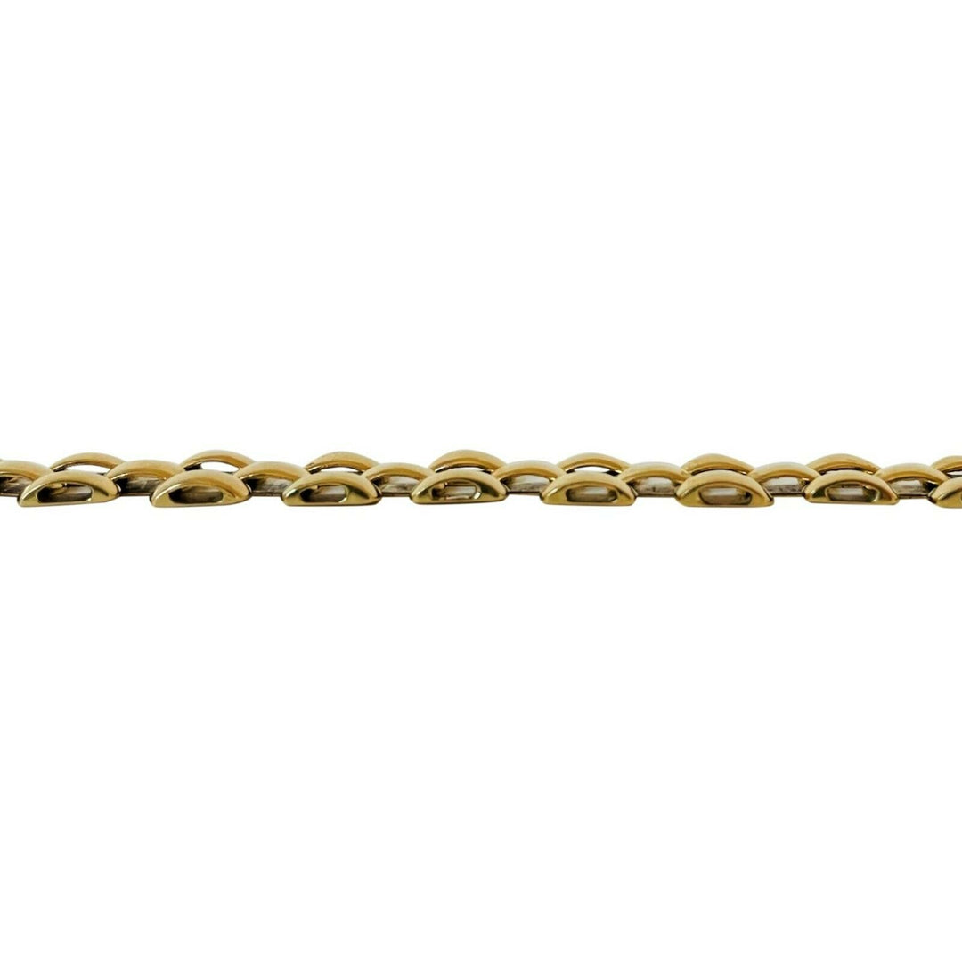 14k Yellow Gold 13.9g Ladies 9mm Panther Link Bracelet Italy 7""