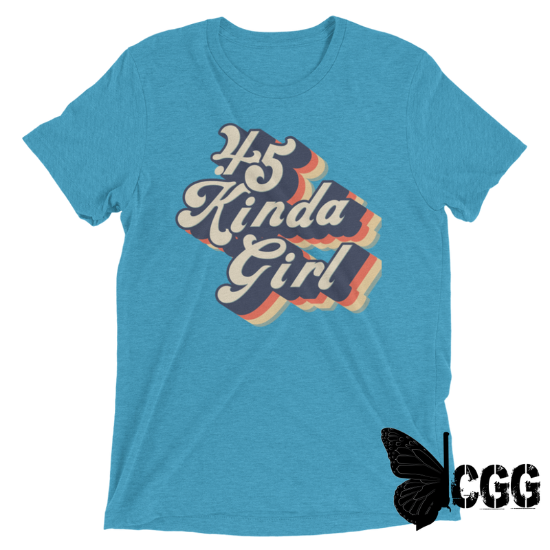 .45 Kinda Girl Tee Aqua Triblend / Xs