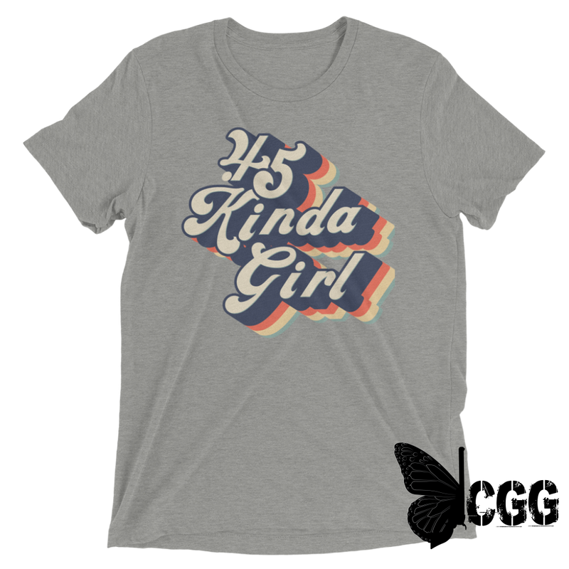 .45 Kinda Girl Tee Athletic Grey Triblend / Xs