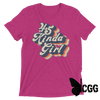 .45 Kinda Girl Tee Berry Triblend / Xs