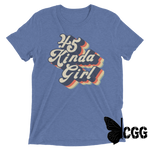 .45 Kinda Girl Tee Blue Triblend / Xs