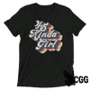 .45 Kinda Girl Tee Charcoal-Black Triblend / Xs