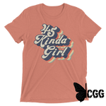 .45 Kinda Girl Tee Mauve Triblend / Xs