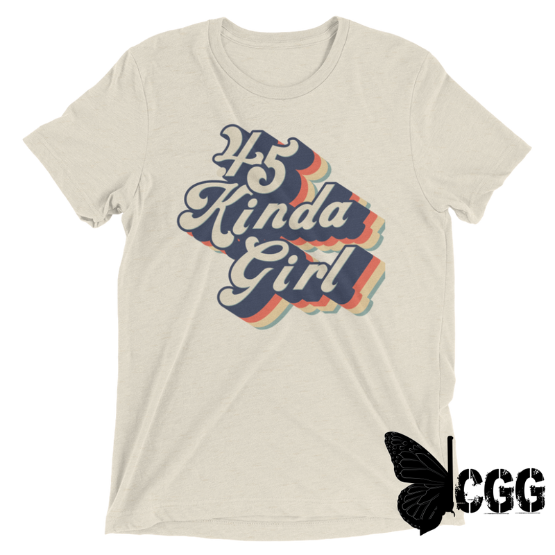 .45 Kinda Girl Tee Oatmeal Triblend / Xs