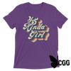 .45 Kinda Girl Tee Purple Triblend / Xs