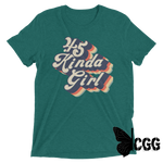 .45 Kinda Girl Tee Teal Triblend / Xs